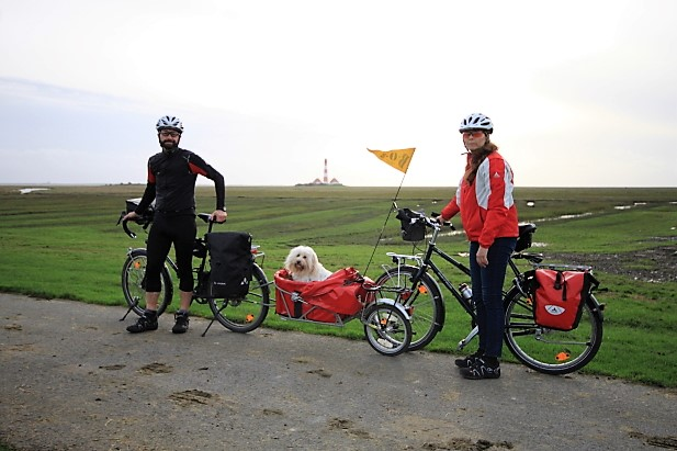 Cycling2gether am Leuchturm Westerhever